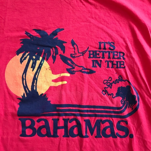"""Other - Single Stitch """"It's Better In The Bahamas"""" T Shirt"""